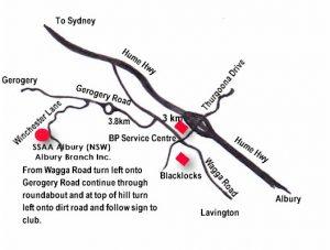 SSAA Albury Map