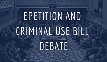 ePetition and Criminal Use Bill Debate
